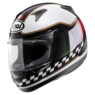 Arai RX-Q Italy Flag Helmet 2013 White/Black / LG [Blemished - Very Good]