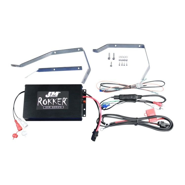J&M Rokker 330W XXR Amp Kit For Harley Touring 2010-2013
