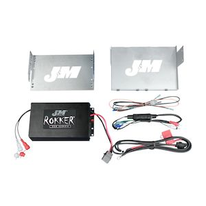 J&M Rokker 330W XXR Amp Kit For Harley Touring 2006-2013