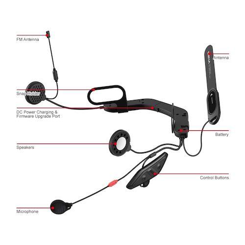 sena 10u bluetooth headset for arai full face helmets revzilla. Black Bedroom Furniture Sets. Home Design Ideas