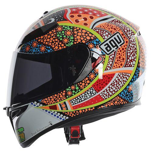 Motorcycle Helmets And Jackets AGV K3 SV Dreamtime Helmet - White/Orange/Blue
