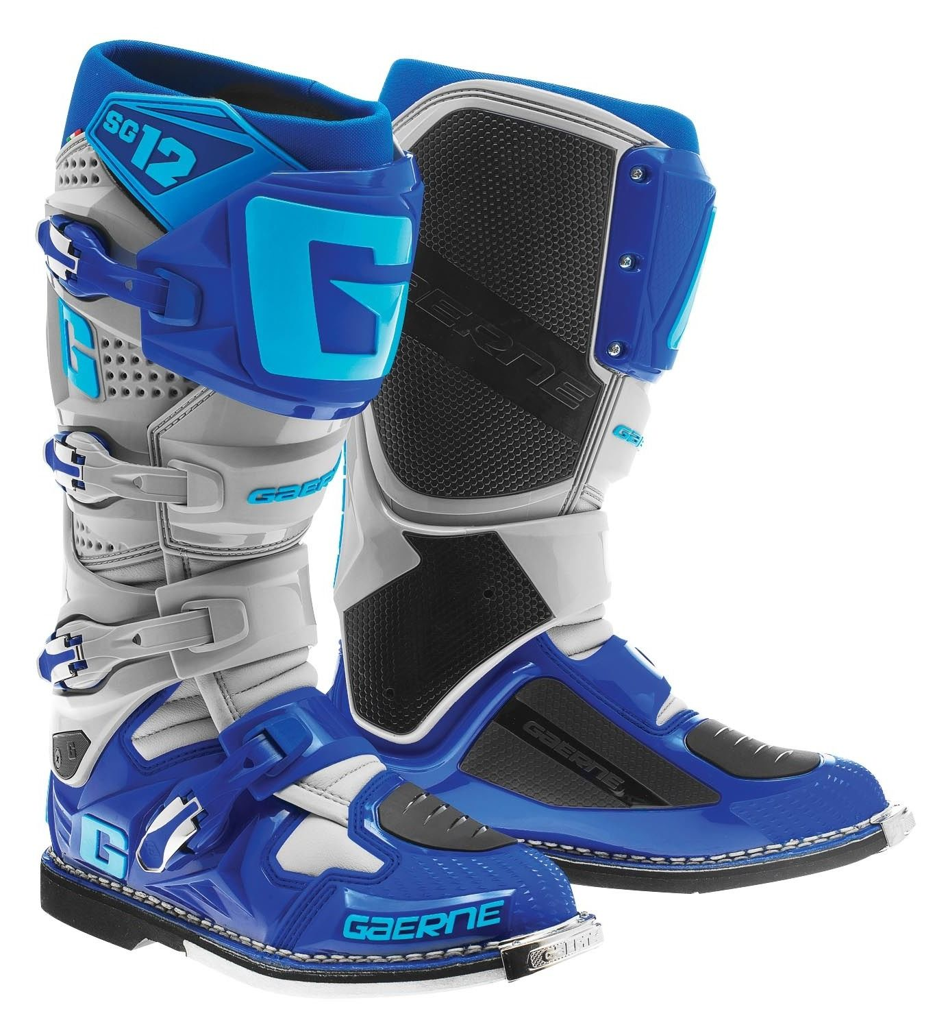 The SG is a Premium boot, the kind of boot that real racers wear Dual composite rubber soles, lightweight alloy, replaceable buckle system, exclusive GAERNE Grip Guard, floating Razorback with a built in ankle alignment system, supercross shank as well as a heel bumper and memory cell PU inner foam liner that completes the construction for an unforgettable fitReviews: 2.