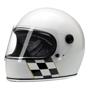 Biltwell Gringo S Checker Stripe Limited Edition Helmet
