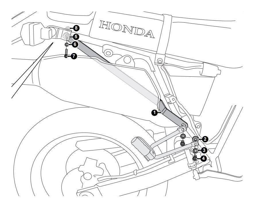 SW-MOTECH Sub-Frame Support Arms Honda XR650L - RevZilla