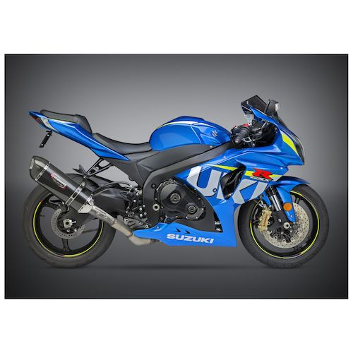 yoshimura alpha signature slip on exhaust suzuki gsxr 1000. Black Bedroom Furniture Sets. Home Design Ideas