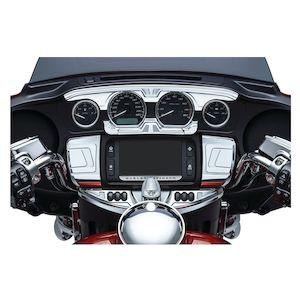 Bahn Gauge Accents For Harley Touring 2014-2018
