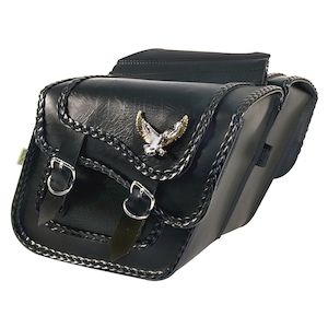 Willie & Max Black Magic Slant Throw-Over Saddlebags