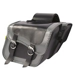 Willie & Max Grey Thunder Slant Throw-Over Saddlebags