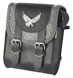 Willie & Max Grey Thunder Studded Sissy Bar Bag