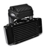 Jagg Horizontal Low Mount Fan Assisted Oil Cooler Kit For Harley Touring 2009-2013