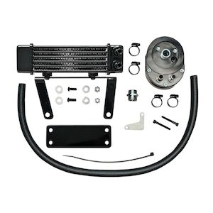 Jagg Horizontal Low Mount Oil Cooler Kit For Harley Softail 2000-2017