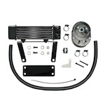 Jagg Horizontal Low Mount Oil Cooler Kit For Harley Softail 2000-2015
