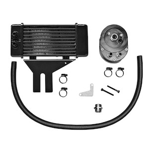 Jagg Horizontal Low Mount Oil Cooler Kit For Harley Dyna 1991-2017