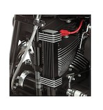 Jagg Vertical Frame Mount Slim Line Oil Cooler For Harley 1984-2016