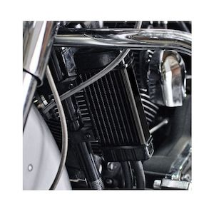 Jagg Vertical Frame Mount Wide Line Oil Cooler For Harley 1955-2019
