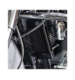 Jagg Vertical Frame Mount Wide Line Oil Cooler For Harley 1984-2018