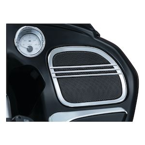 Kuryakyn Tri-Line Speaker Grills For Harley Road Glide 2015-2019