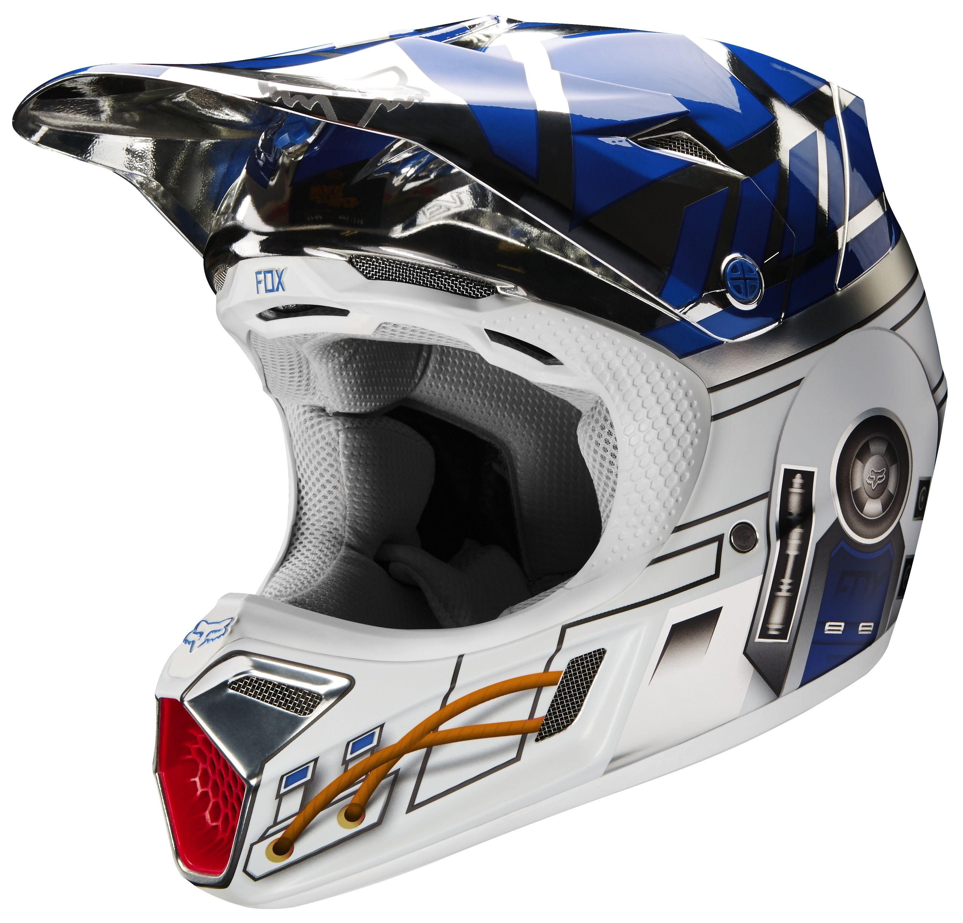 Fox Racing V3 R2d2 Le Helmet Revzilla