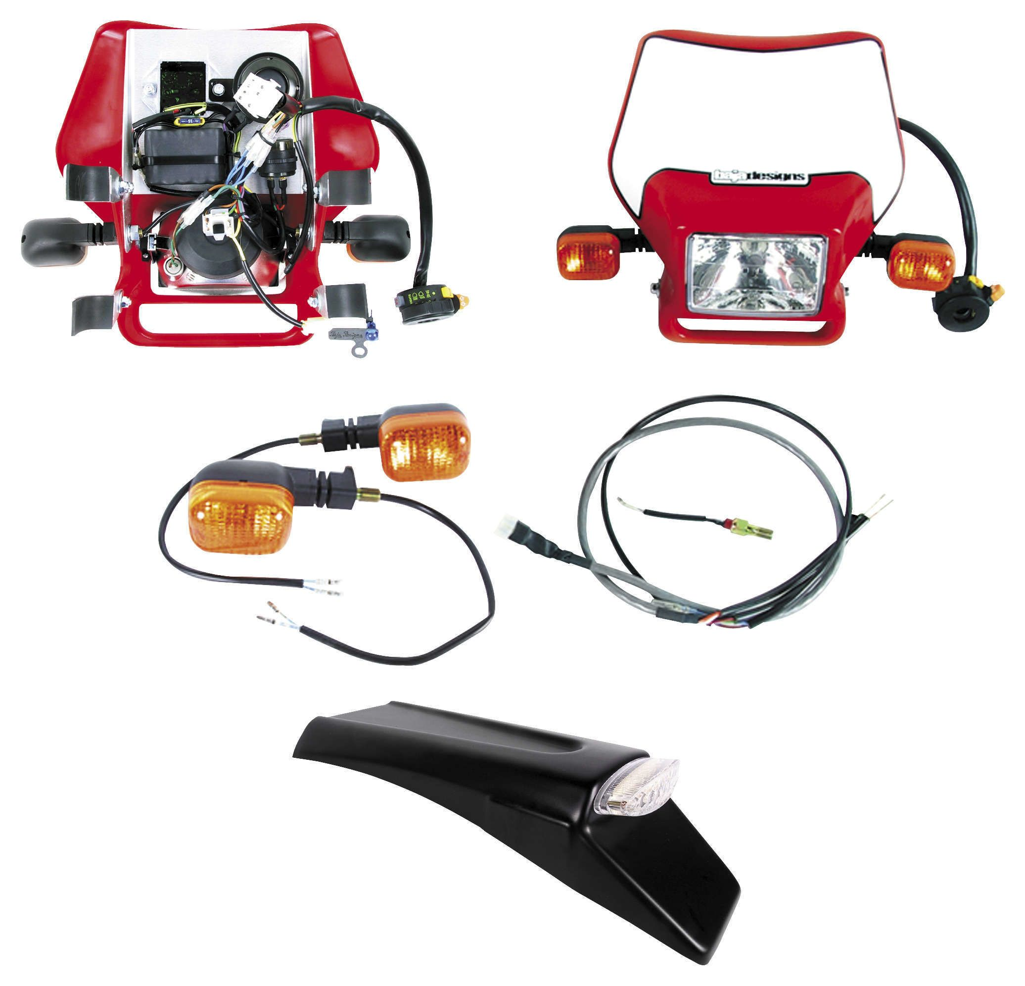Baja Designs EZ Mount Dual Sport Kit Honda / Yamaha / Suzuki / Kawasaki /  KTM / Husqvarna - RevZilla