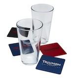 Triumph Pint Glass And Coaster Set