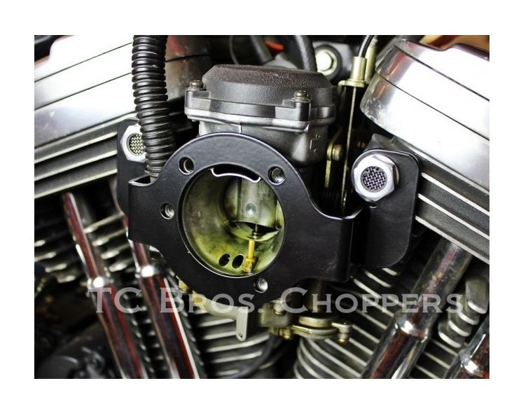 Crankcase Breather Bracket with Harley Air Cleaner Support /& Breather Bolts