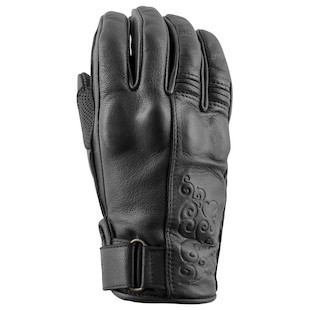 Speed and Strength Women's Black Heart Leather Motorcycle Gloves