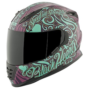 Speed and Strength SS1310 Black Heart Motorcycle Helmet