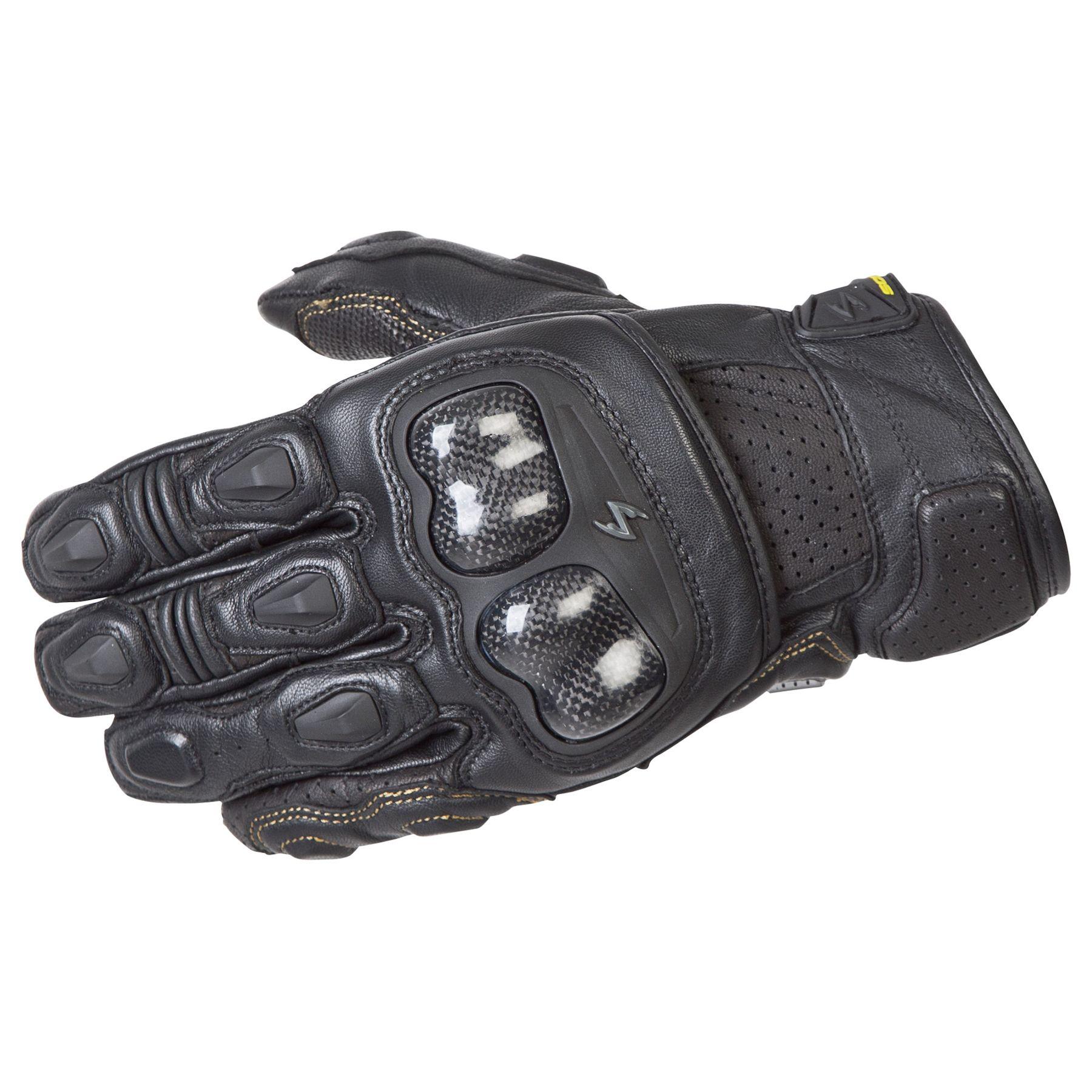 SCORPION SG3 MK II Gloves Leather Gauntlet RED BLACK