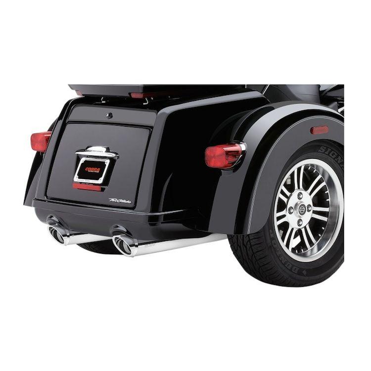 """Cobra 3 3/4"""" Slip-On Mufflers For Harley Tri Glide 2009-2016"""