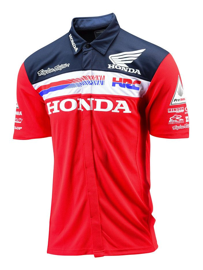 Troy Lee Honda Team Pit Shirt 20 19 60 Off Revzilla