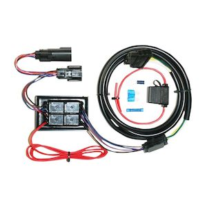 khrome werks plug & play trailer wiring harness kit for harley touring 2014- 2015