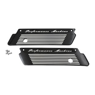 Performance Machine Fluted Saddlebag Latch Covers For Harley Touring