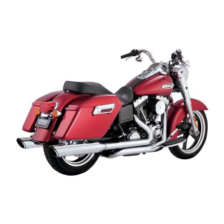 "Vance & Hines 4"" Twin Slash Dual Exhaust For Harley Switchback 2012-2016"