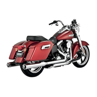 """Vance & Hines 4"""" Monster Rounds Dual Exhaust For Harley Switchback 2012-2016"""