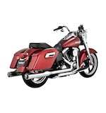 "Vance & Hines 4"" Monster Rounds Dual Exhaust For Harley Switchback 2012-2016"