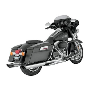 "Vance & Hines 5 1/2"" Monster Oval Twin Slash Slip-On Mufflers For Harley Touring 1995-2016"