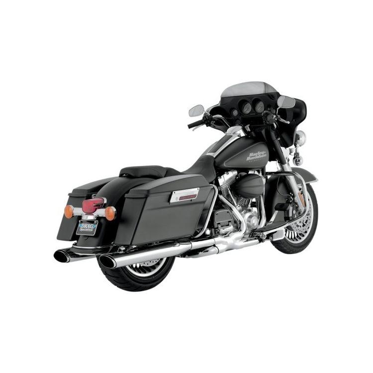 "Vance & Hines 4 1/2"" Oval Twin Slash Slip-On Mufflers For Harley Touring 1995-2016"