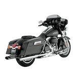 "Vance & Hines 4 1/2"" Oval Twin Slash Slip-On Mufflers For Harley Touring 1995-2016"