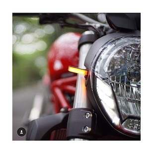 New Rage Cycles LED Front Turn Signals Ducati Monster 696 2008-2014