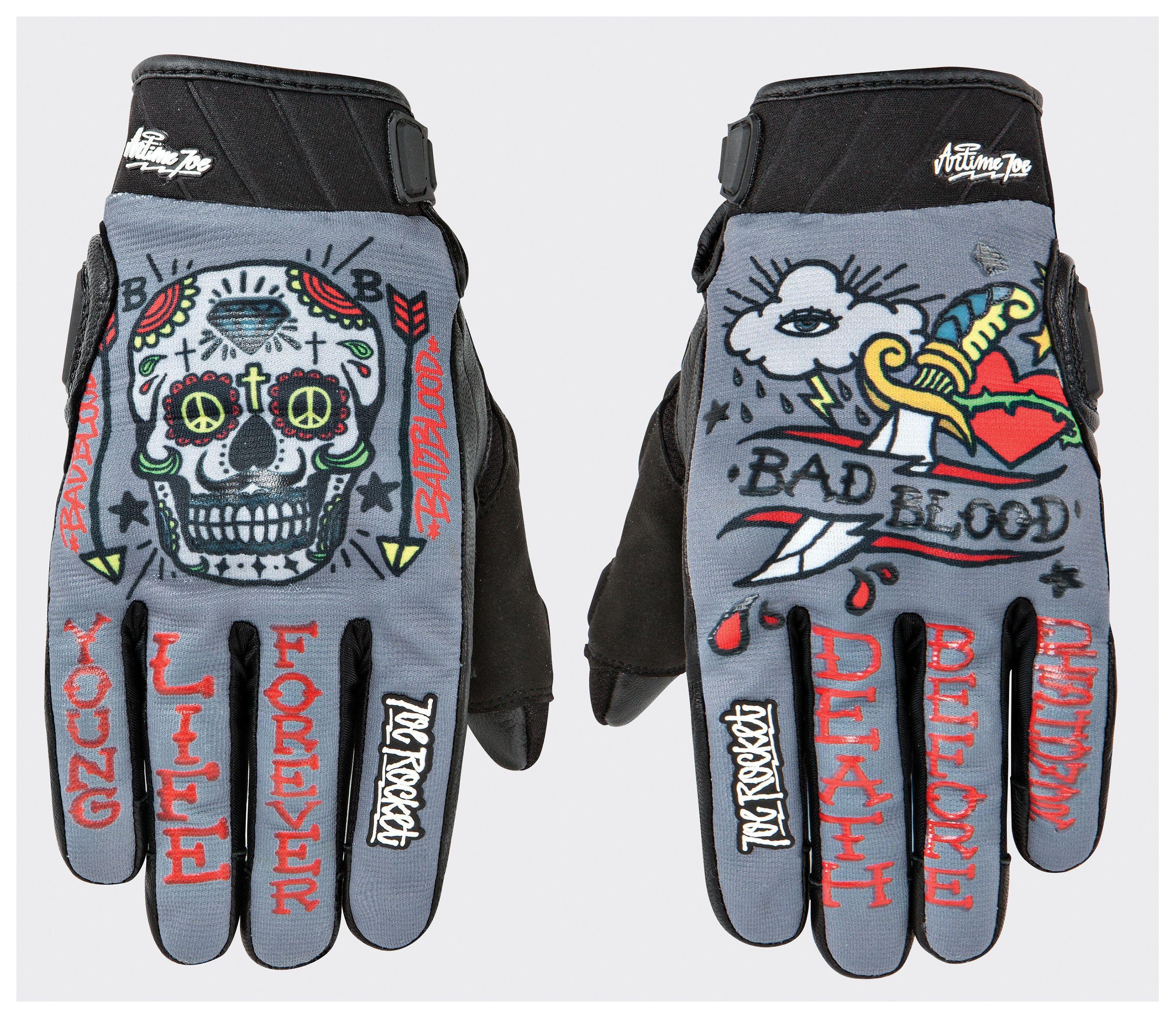 Joe rocket leather motorcycle gloves -  Joe Rocket Artime Joe Bad Blood Gloves Revzilla