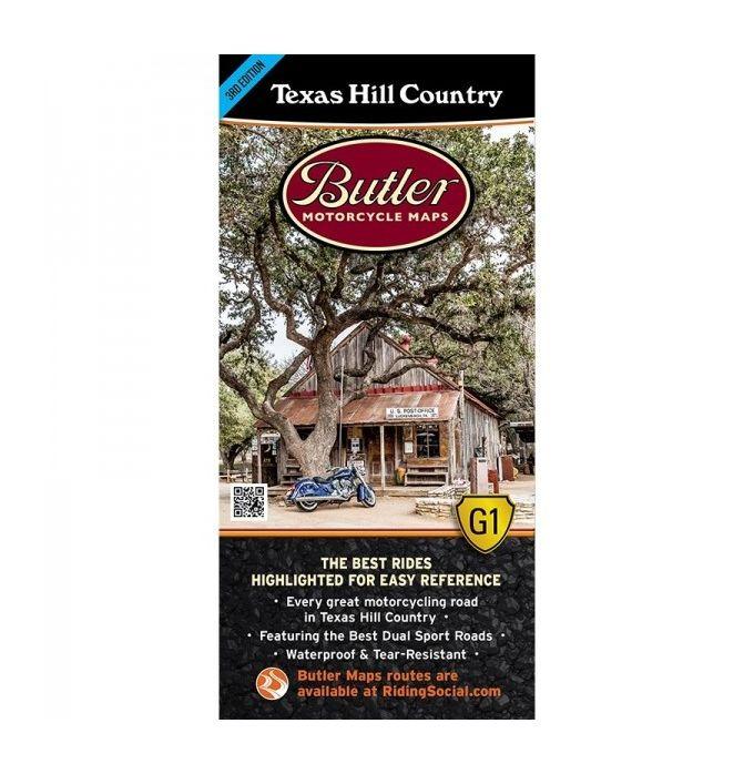 Butler Maps Texas Hill Country