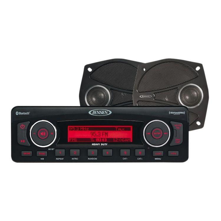 """Jensen High Performance Stereo And 5 1/4"""" Speaker Kit For Harley Touring 1998-2013"""