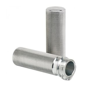 "Joker Machine Knurled 1"" Grips For Harley With Cable Throttle"