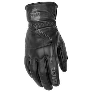 Black Brand Pinstripe Gloves