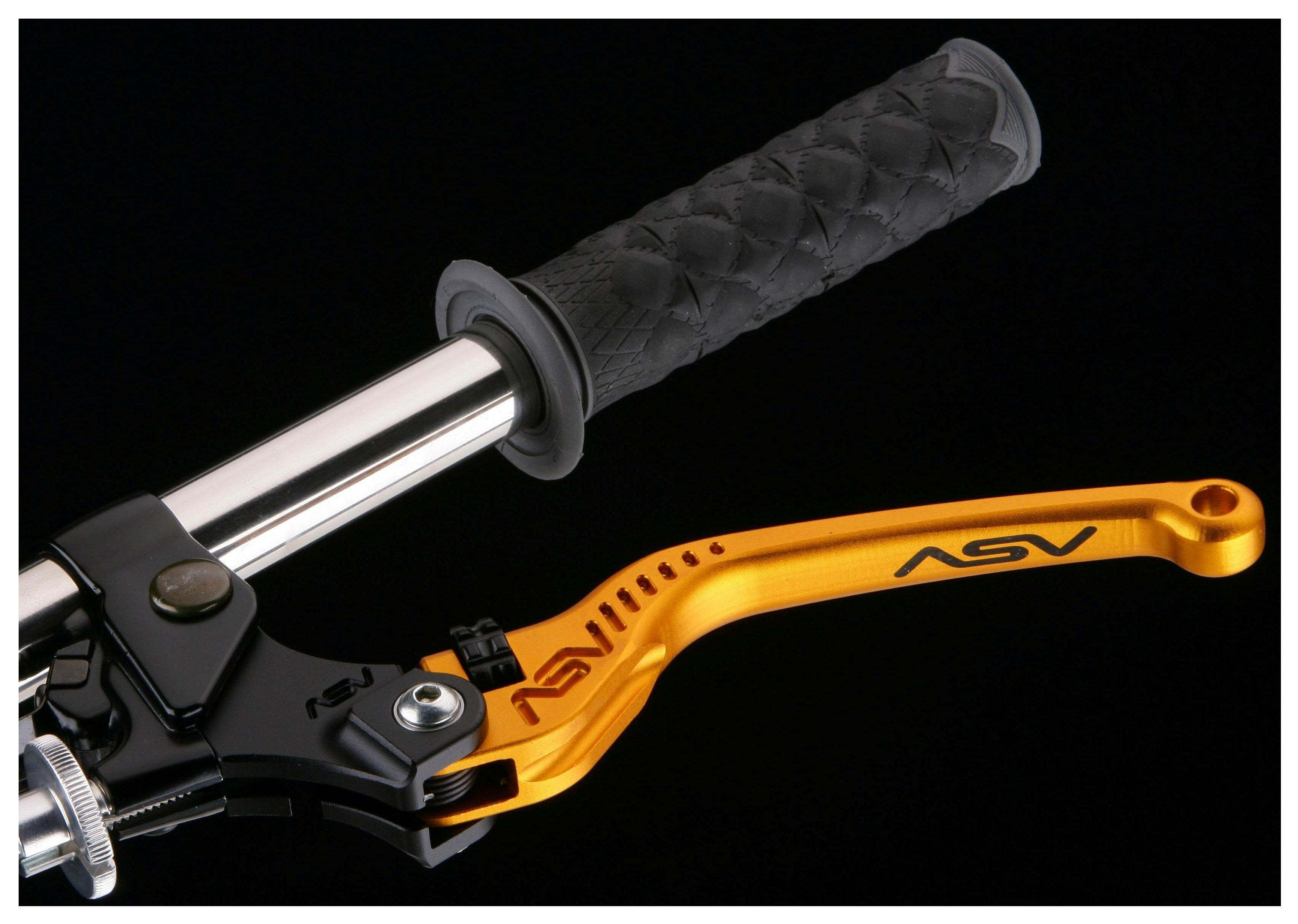 Buell CNC Billet Click Adjust Race Blade Brake Lever Gold Aluminum