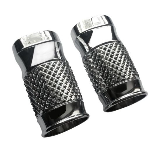 eddie trotta cross cut fork slider covers for harley touring revzilla
