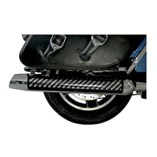 LA Choppers Muffler Heat Shields For Harley Touring 1995-2015 Serrated / Black [Blemished - Very Good]