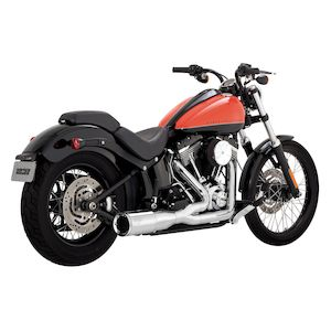 Vance & Hines Hi-Output 2-Into-1 Short Exhaust For Harley Softail 1986-2017