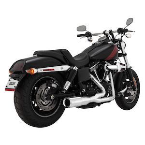 Vance & Hines Hi-Output 2-Into-1 Short Exhaust For Harley