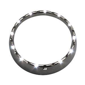 "Custom Dynamics 7"" Halo Headlight Trim Ring For Harley Touring 2014-2018"